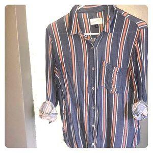 Striped cotton button down